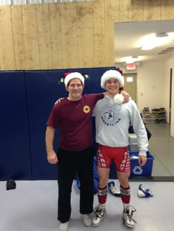 One of my most dedicated wrestlers, Cole, helped us get in the Christmas spirit this past week.  Thanks, Cole!