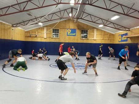 Pre-pandemic pic of wrestlers training here